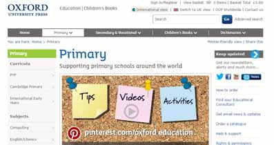 Primary resources from Oxford University Press